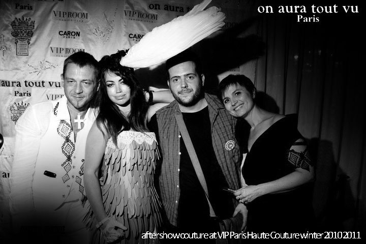 aura dione at aftershow couture of on aura tout vu