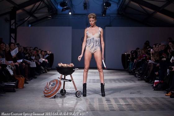 on aura tout vu collection ete 2012 haute couture Paris avec la top modèle Léonora Jimenez.