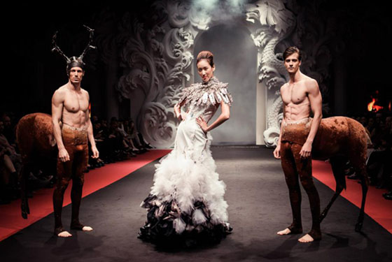 on aura tout vu wedding dresse and centors from monaco ballet kill bamby by on aura tout vu in singapore fashion week