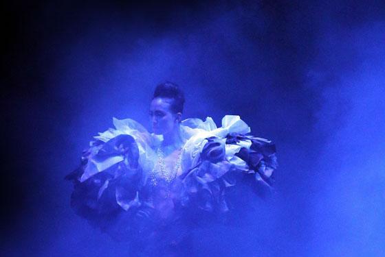 Organza dress by on aura tout vu at singapore fashion week 2012