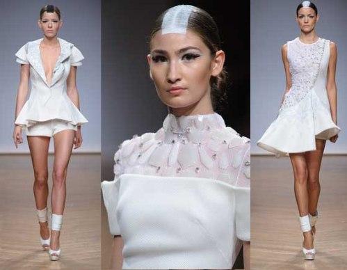 Collection Couture spring summer 2014 ON AURA TOUT VU Fashion Week Paris White