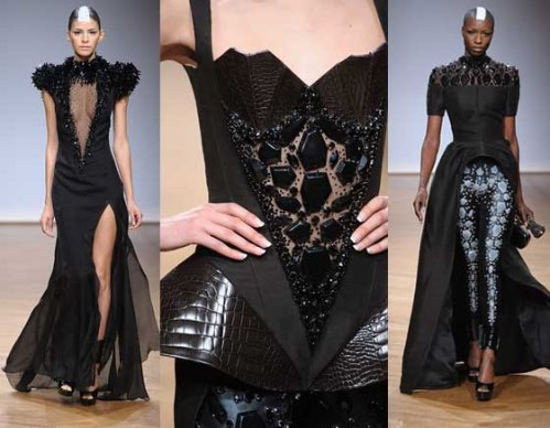 Collection Couture spring summer 2014 ON AURA TOUT VU Fashion Week Paris Black