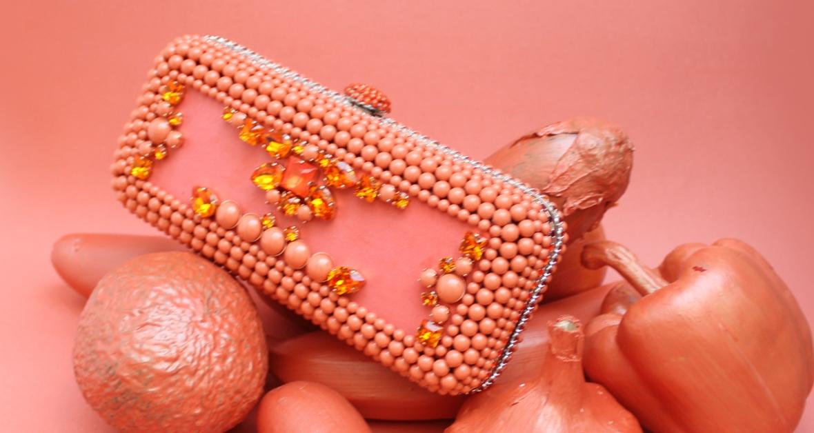 minaudière crystalcoral et tangerine on aura tout vu ete 2015