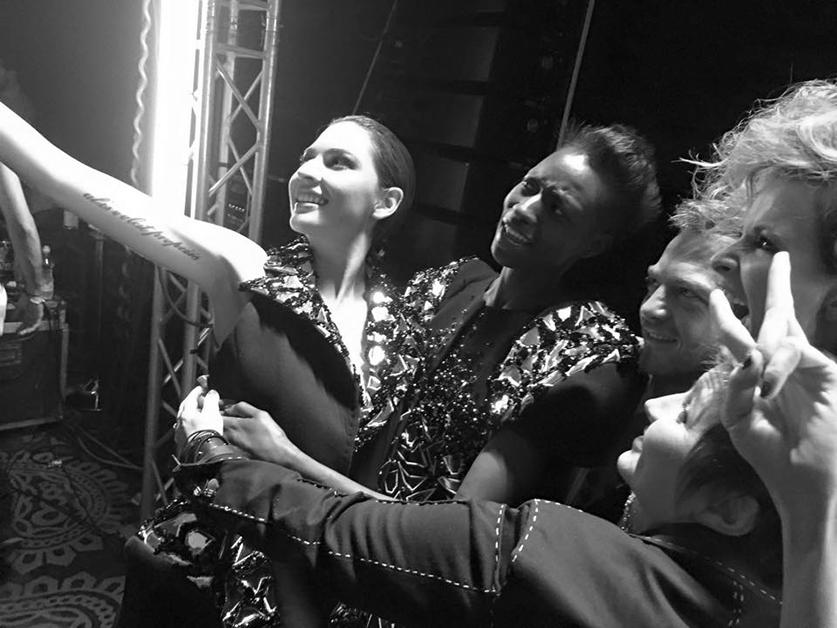 on aura tout vu livia stoianova yassen samouilov backstage with models at fashion week san jose costa rica