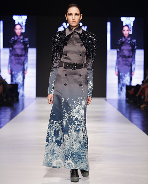 on aura tout vu couture fashion week san jose costa rica coat print