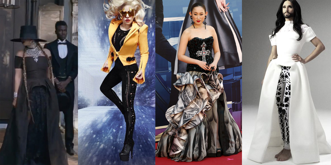 celebrity wearing on aura tout vu lady gaga beyonce conchita wurst ivana wong