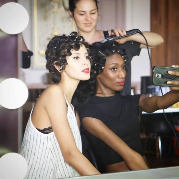 les models du défilé on aura tout vu coiffés par l'équipe de Patrice Piau