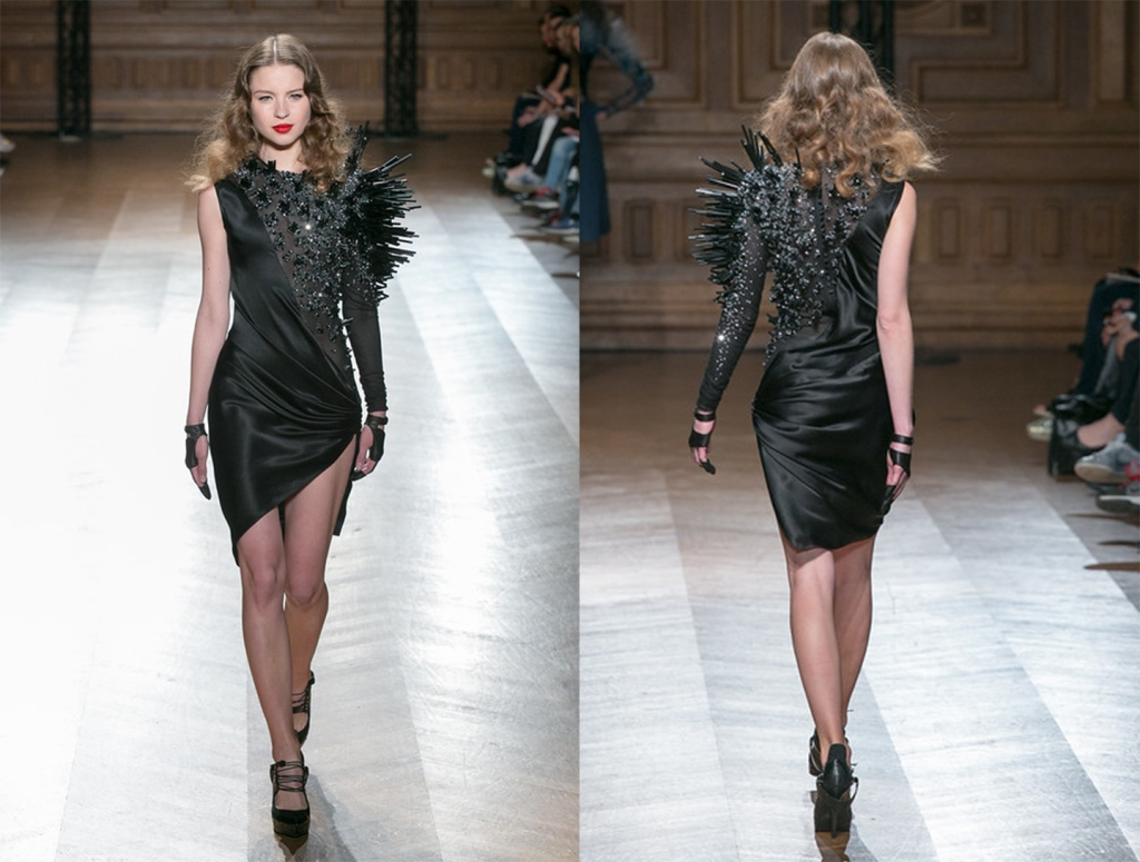 on aura tout vu couture black dress